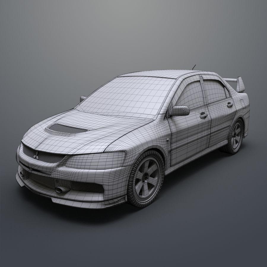 Mitsubishi lancer evolution IX royalty-free 3d model - Preview no. 16