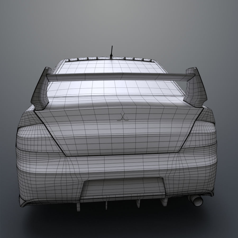 Mitsubishi lancer evolution IX royalty-free 3d model - Preview no. 18