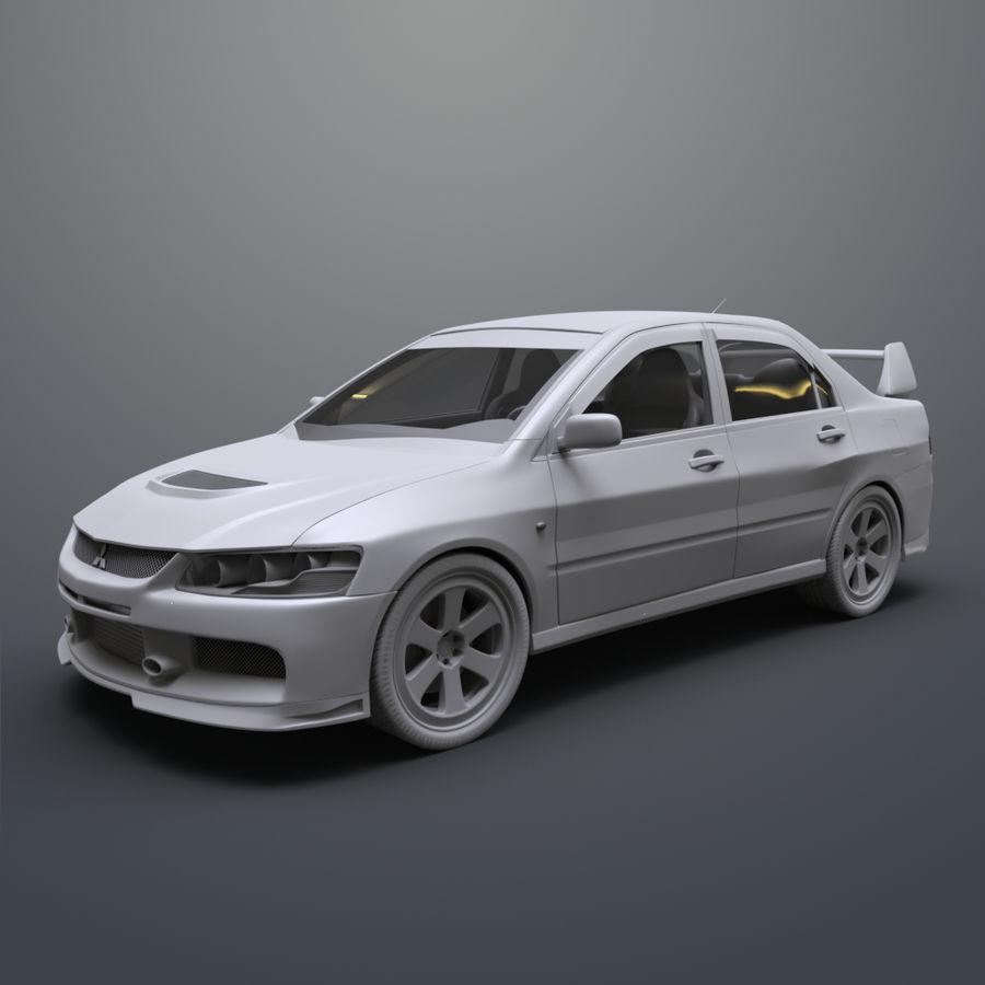 Mitsubishi lancer evolution IX royalty-free 3d model - Preview no. 10