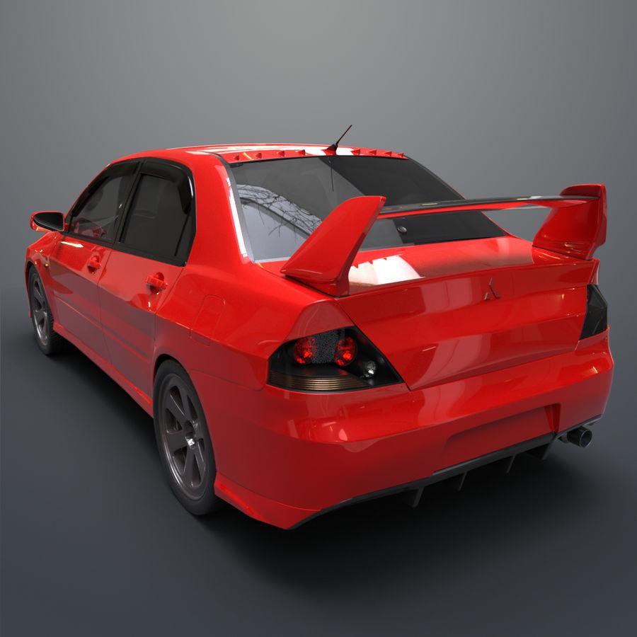 Mitsubishi lancer evolution IX royalty-free 3d model - Preview no. 4