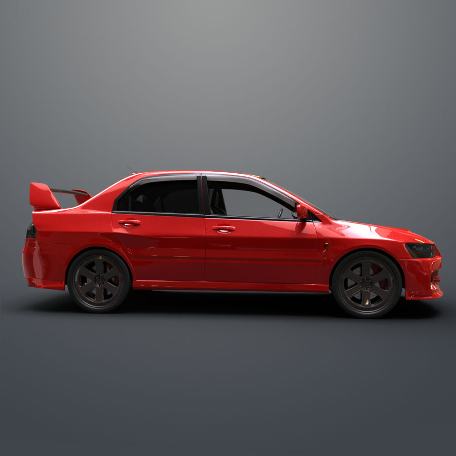 Mitsubishi lancer evolution IX royalty-free 3d model - Preview no. 8