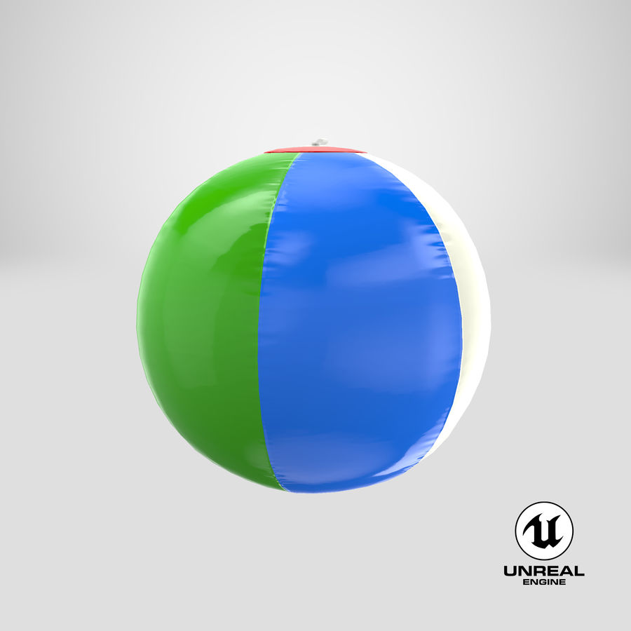 Beach Ball royalty-free 3d model - Preview no. 22