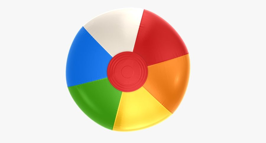 Beach Ball royalty-free 3d model - Preview no. 4