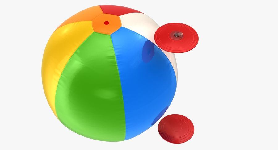 Beach Ball royalty-free 3d model - Preview no. 9