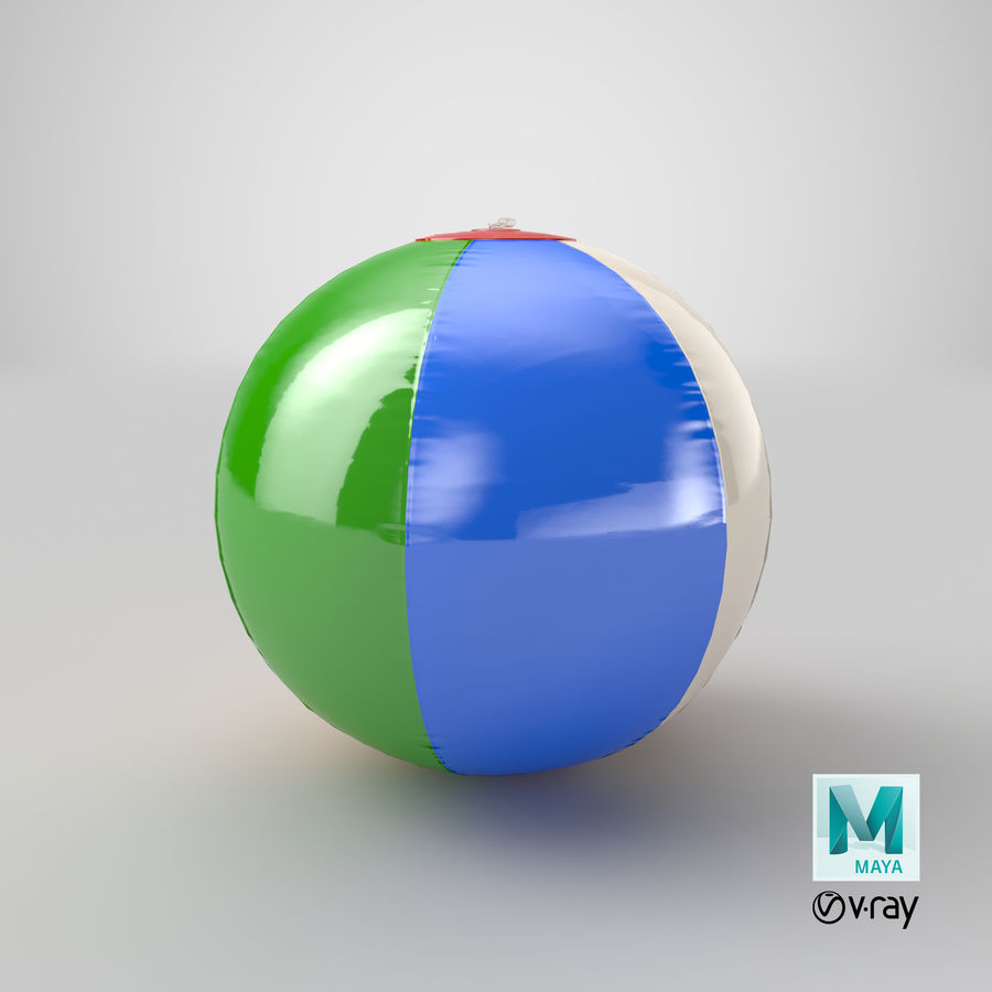 Beach Ball royalty-free 3d model - Preview no. 17