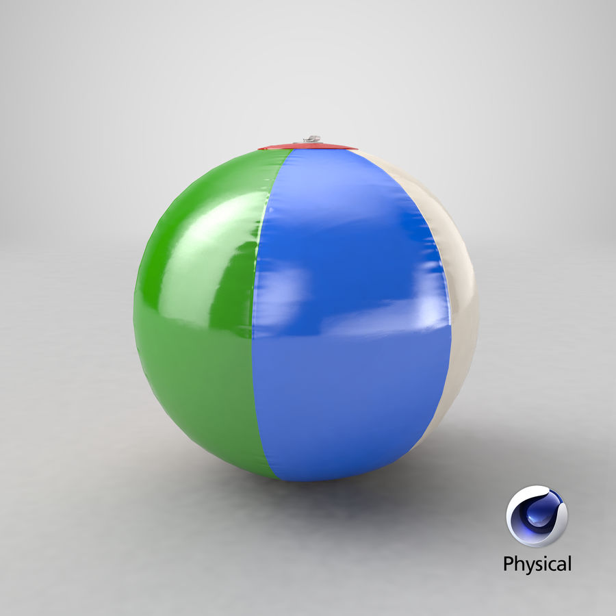 Beach Ball royalty-free 3d model - Preview no. 21
