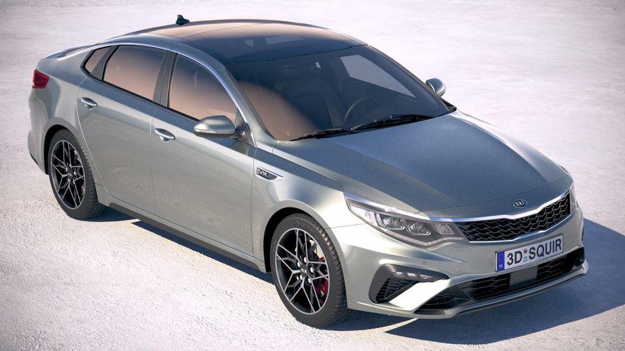 Kia Optima 2019 royalty-free 3d model - Preview no. 12