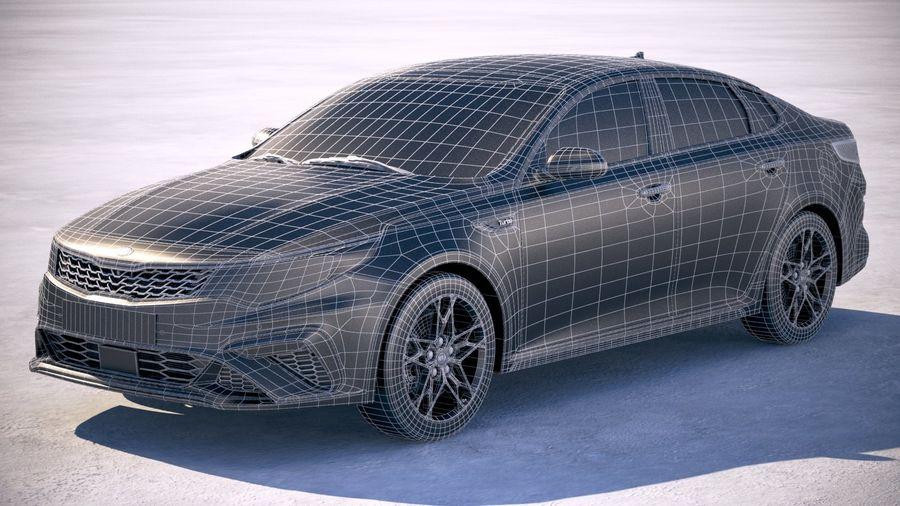Kia Optima 2019 royalty-free 3d model - Preview no. 20