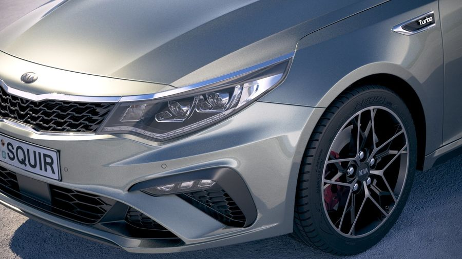 Kia Optima 2019 royalty-free 3d model - Preview no. 3