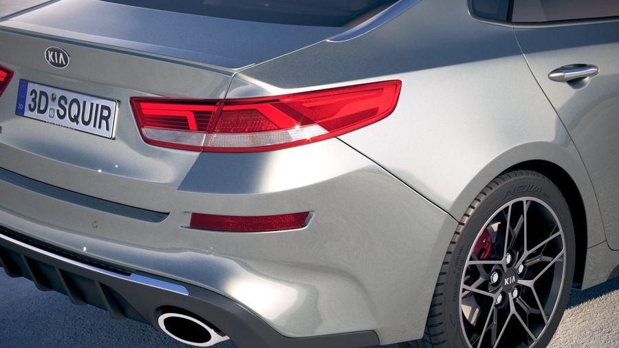 Kia Optima 2019 royalty-free 3d model - Preview no. 4