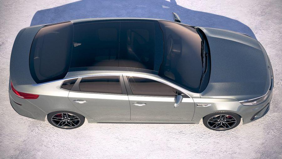 Kia Optima 2019 royalty-free 3d model - Preview no. 8