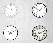 wall clock collection 3d model