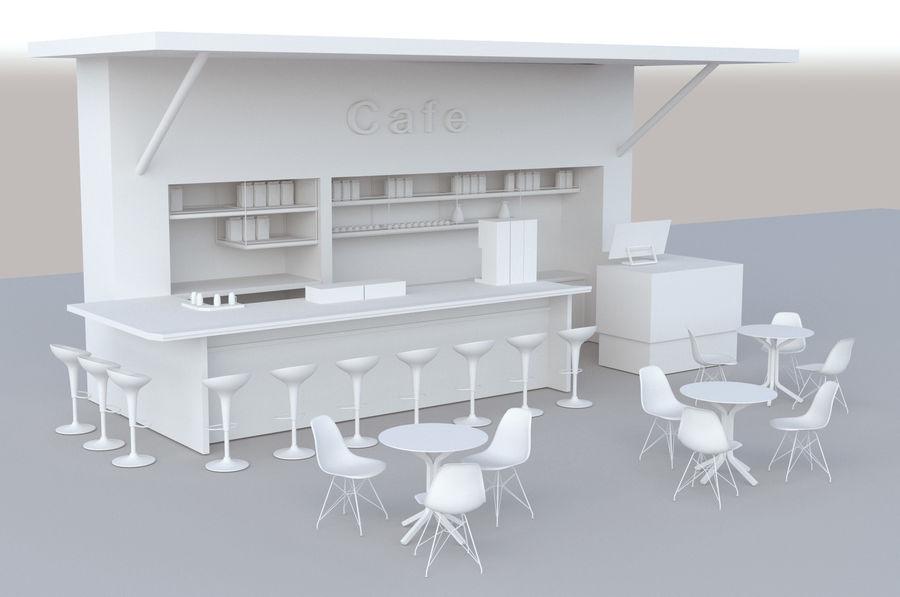 Kafé royalty-free 3d model - Preview no. 1