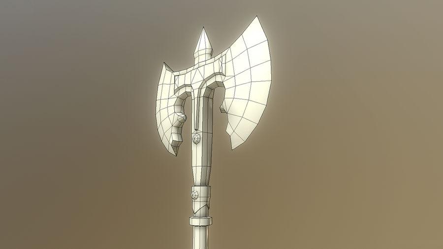 Skyrim - Machado de Guerra de Aço royalty-free 3d model - Preview no. 7