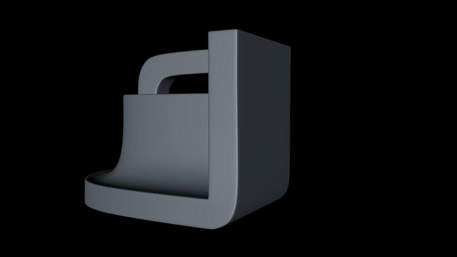 монтаж на трубу royalty-free 3d model - Preview no. 6