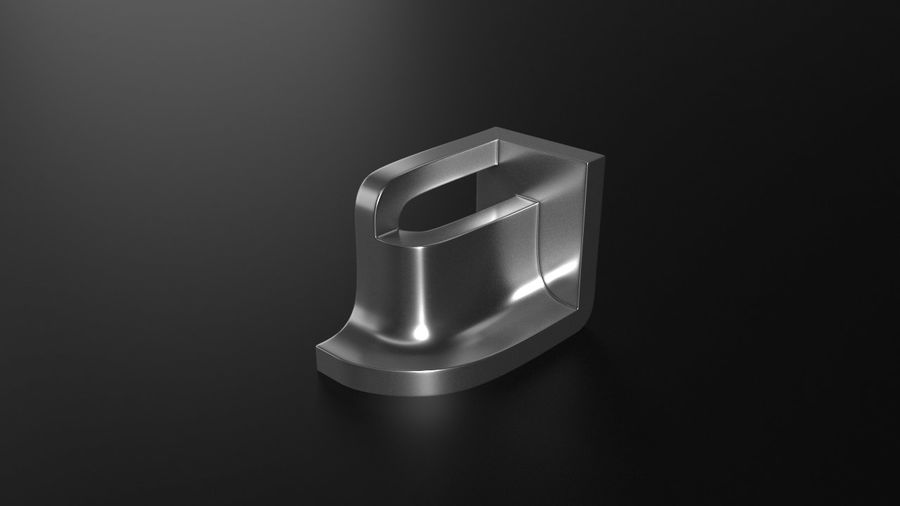 монтаж на трубу royalty-free 3d model - Preview no. 1