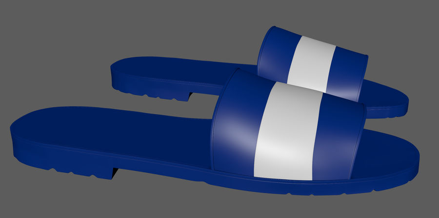 Flips-Flops royalty-free 3d model - Preview no. 10