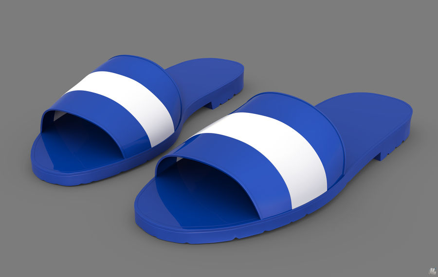 Flips-Flops royalty-free 3d model - Preview no. 2