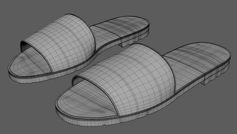 Flips-Flops royalty-free 3d model - Preview no. 5