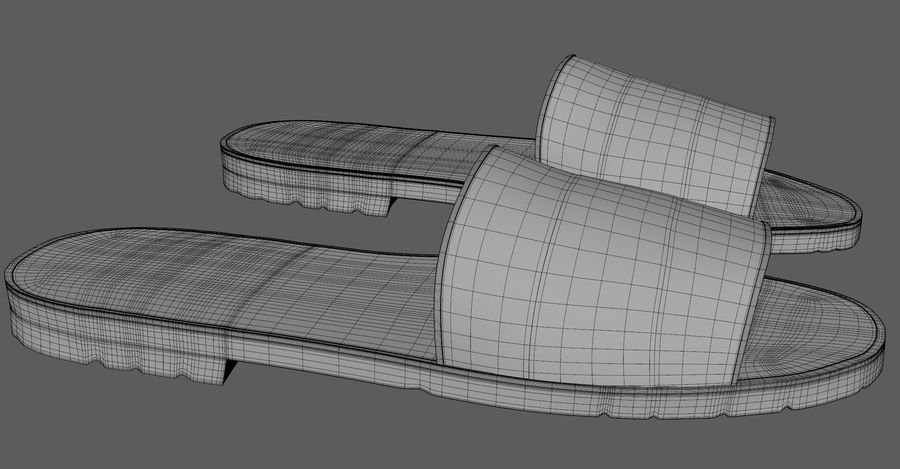Flips-Flops royalty-free 3d model - Preview no. 11