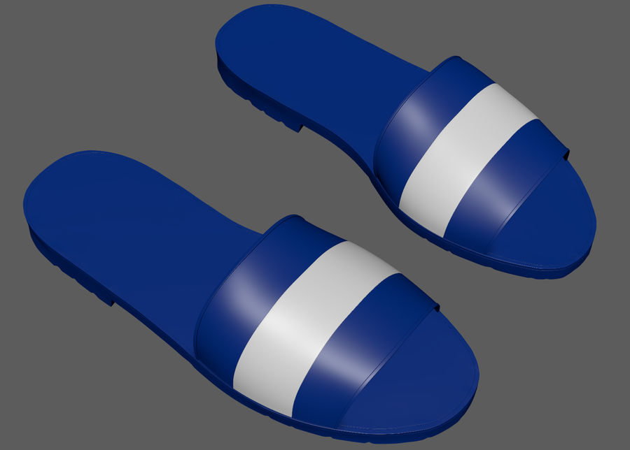Flips-Flops royalty-free 3d model - Preview no. 8