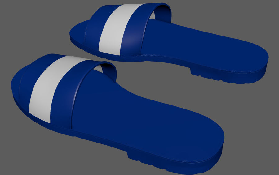 Flips-Flops royalty-free 3d model - Preview no. 6