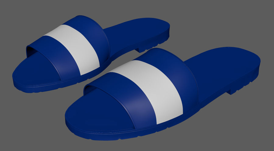 Flips-Flops royalty-free 3d model - Preview no. 4