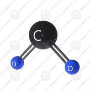 Cząsteczka dwutlenku węgla 3d model
