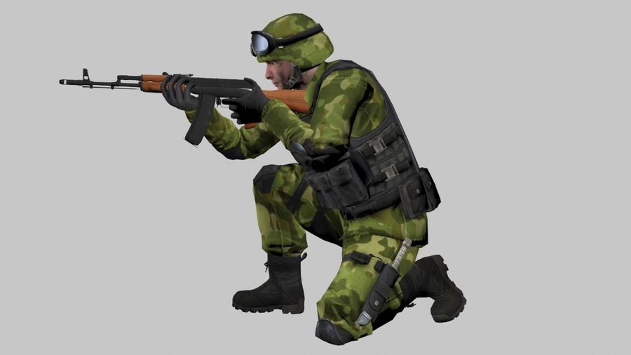 Arma Asker royalty-free 3d model - Preview no. 5