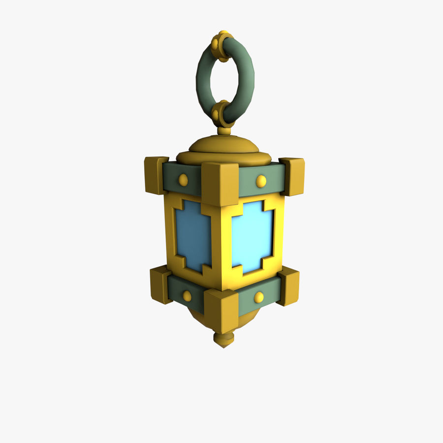 cartoon lamp royalty-free 3d model - Preview no. 3