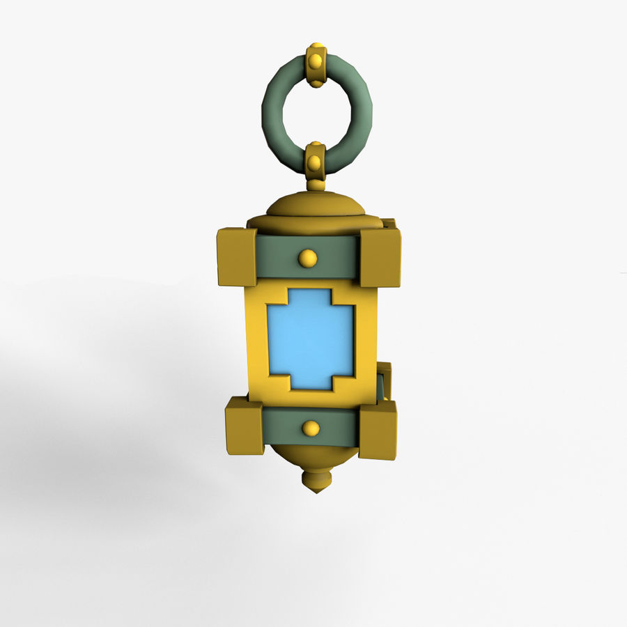 cartoon lamp royalty-free 3d model - Preview no. 1