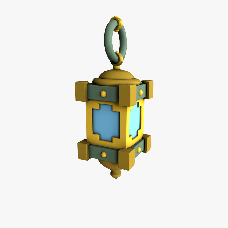 cartoon lamp royalty-free 3d model - Preview no. 4
