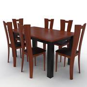 桌子和椅子 3d model