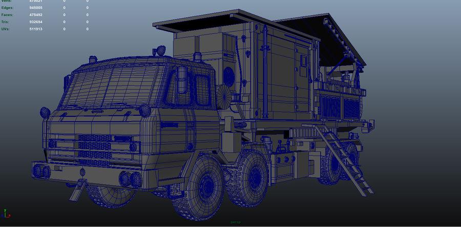 camión militar royalty-free modelo 3d - Preview no. 7