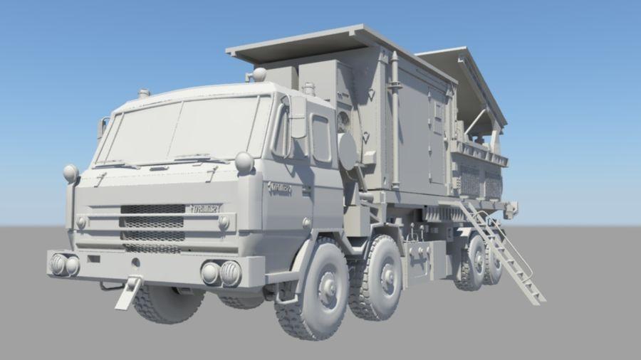 camión militar royalty-free modelo 3d - Preview no. 2