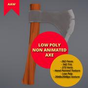 Topór bez animacji Low Poly 3d model