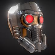 Casque Star-Lord 3d model