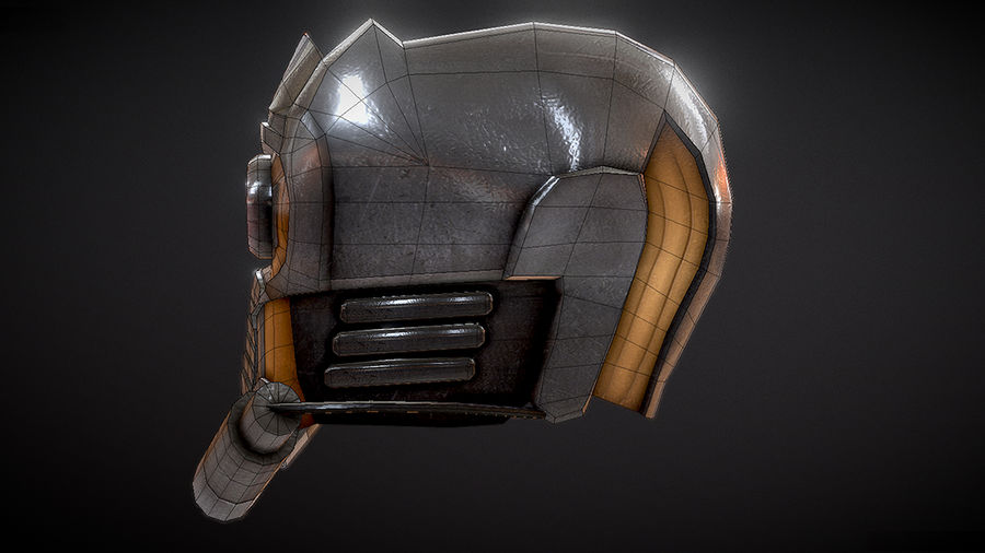 Шлем Звездного Лорда royalty-free 3d model - Preview no. 6