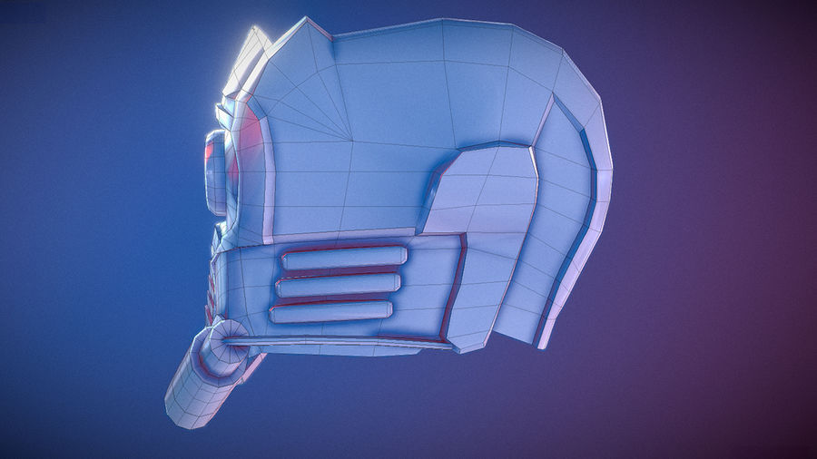 Шлем Звездного Лорда royalty-free 3d model - Preview no. 7
