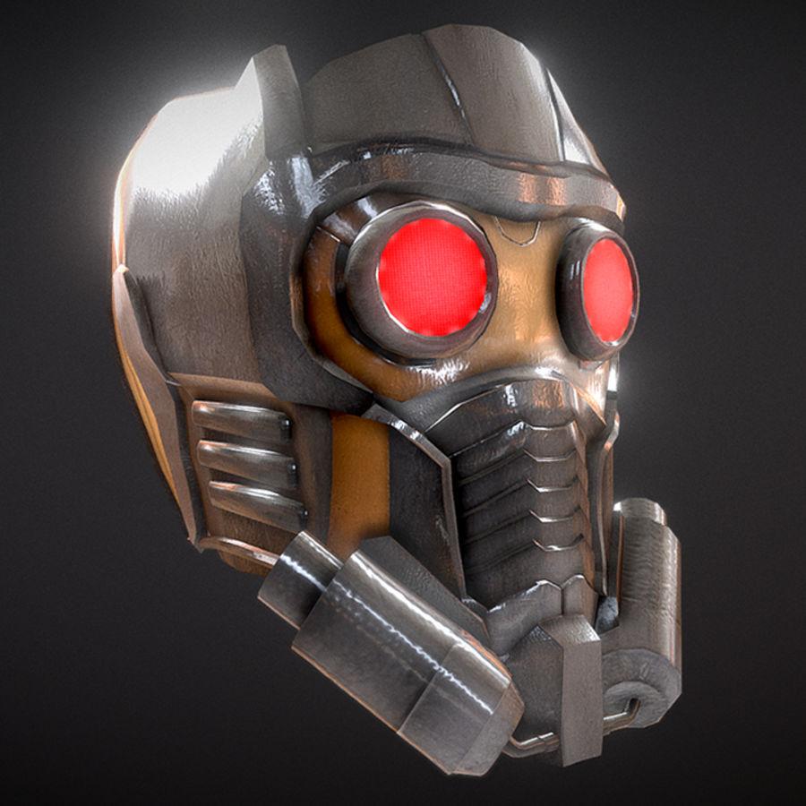 Шлем Звездного Лорда royalty-free 3d model - Preview no. 1