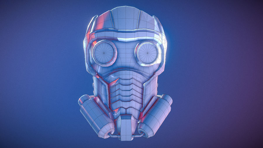 Шлем Звездного Лорда royalty-free 3d model - Preview no. 13