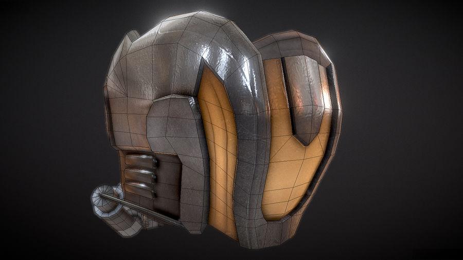 Шлем Звездного Лорда royalty-free 3d model - Preview no. 9