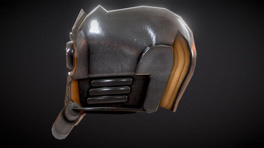 Шлем Звездного Лорда royalty-free 3d model - Preview no. 5