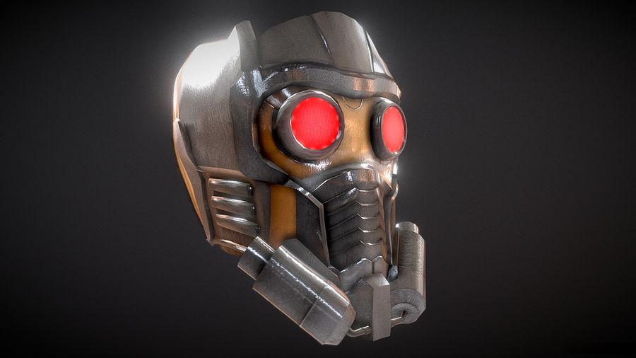 Шлем Звездного Лорда royalty-free 3d model - Preview no. 2