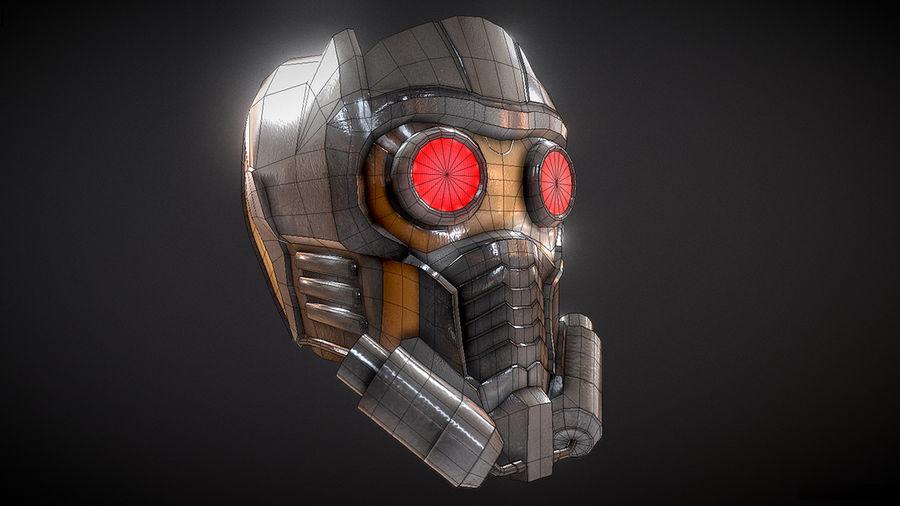 Шлем Звездного Лорда royalty-free 3d model - Preview no. 3