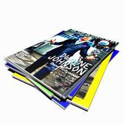 杂志堆 3d model