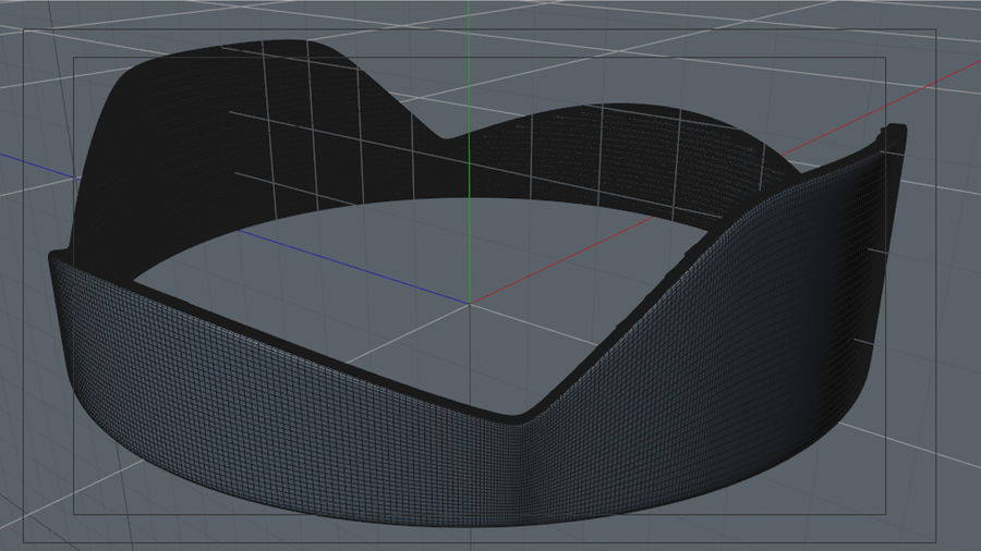 Lens Hood royalty-free 3d model - Preview no. 5