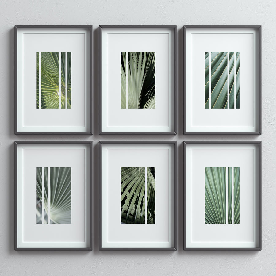 Picture Frames Set -13 royalty-free 3d model - Preview no. 4