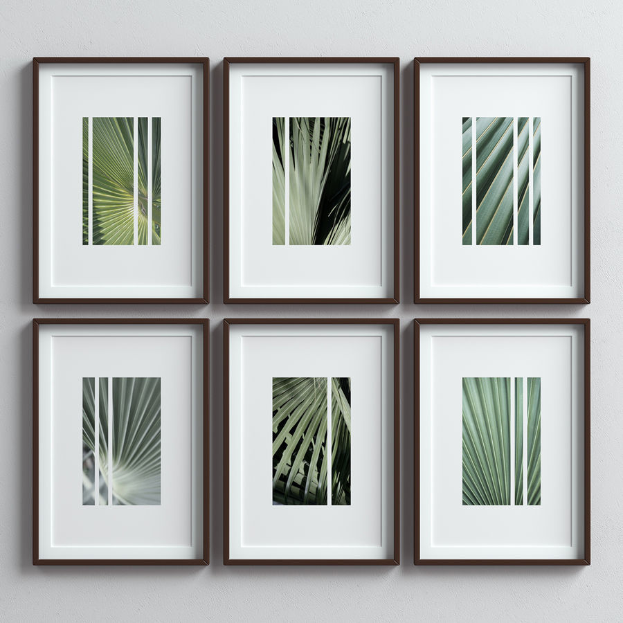 Picture Frames Set -13 royalty-free 3d model - Preview no. 5