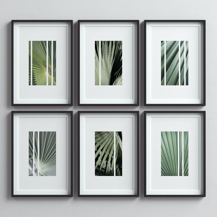 Picture Frames Set -13 royalty-free 3d model - Preview no. 1
